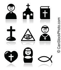 Religion, katholische Kirchen-Ikonen