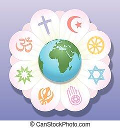 Religionen vereinten Weltfrieden