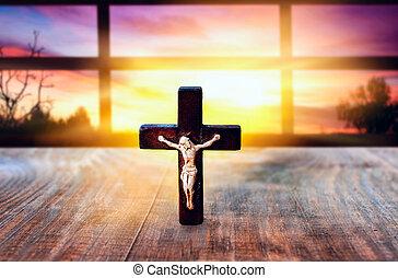 Religionsgeschichte. Himmel im Paradies. Licht am Himmel.