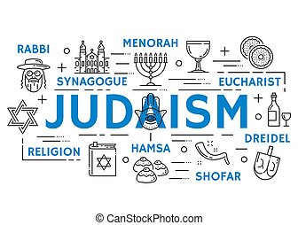 Religionssymbole, dünne Symbole