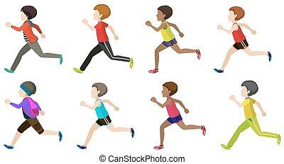 rennender , kinder, gesichtslos
