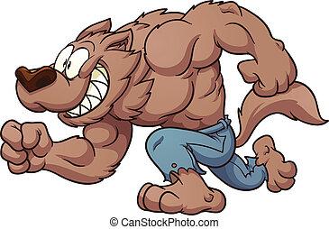 rennender , werwolf