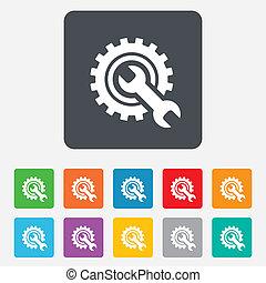 Repair-Werkzeug-Symbol. Servicesymbol.