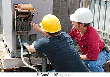 Reparatur industrieller Klimaanlage