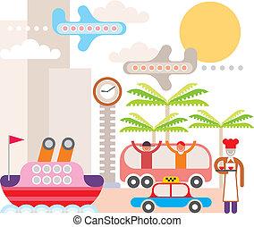 Resort - Vektor Illustration