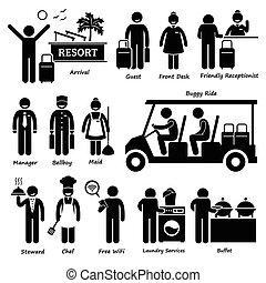 Resort Villa Hotel Tourist Arbeiter