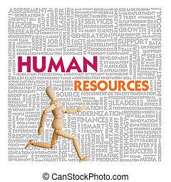 ressource, finanz, geschäftskonzept, menschliche , wort, wolke