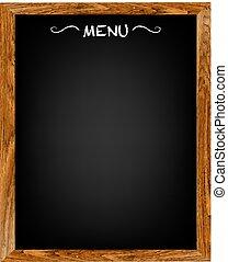 Restaurant-Menü-Holzplatte