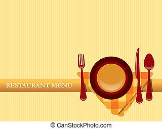 Restaurant-Menü-Vektor