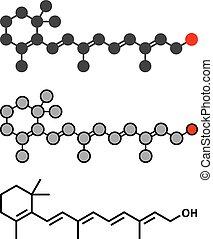 Retinol (Vitamin A) Molekül.