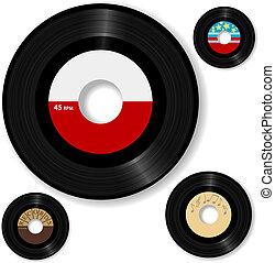 Retro 45 RPM Rekord