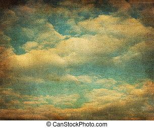 Retro-Bild des wolkigen Himmels