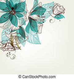 Retro-Blumenvektor Illustration