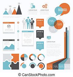 Retro Business Set von infographic e.