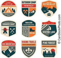 Retro-Camp-Abzeichen
