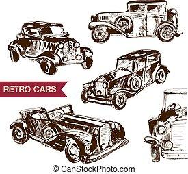 Retro Car Sketch für Ihr Design.