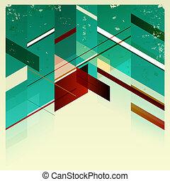 Retro-Geometrisches Hintergrund deaktivieren.