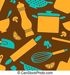 Retro-Küche-Hintergrund
