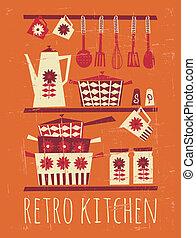 Retro-Küche-Poster