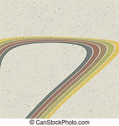 Retro-Linien abstrakter Hintergrund. Vector, EPS10