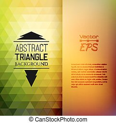 Retro mosaische Muster geometrischer Dreieckformen.