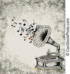 Retro-Musik Hintergrund