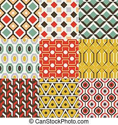 Retro nahtloses geometrisches Muster