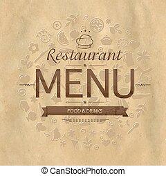 Retro-Restaurant-Menüdesign