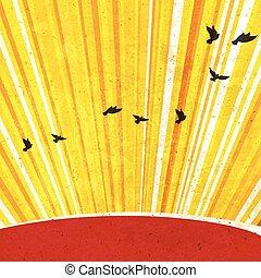 Retro Sonnenstrahlen Hintergrund. Vector, EPS10