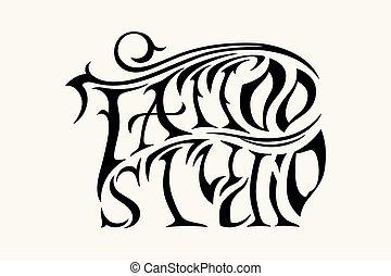 Retro Stil Emblem. Tattoo-Studio-Schild.