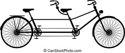 Retro tandem Fahrrad
