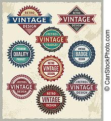 Retro Vintage-Abzeichen-Designs.