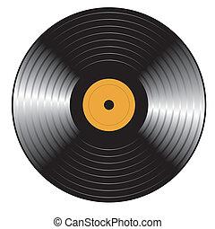Retro Vinylplatte. Vector