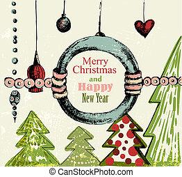 Retro-Weihnachts Hintergrund.