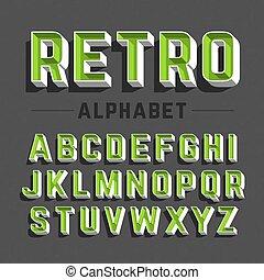 Retrostil Alphabet.