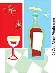 Retrowein und Glas #2