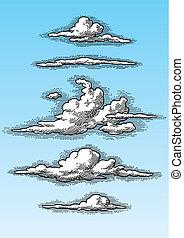 Retrowolken eingestellt (Vektor)