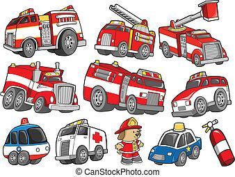 Rettungsfahrzeuge sind bereit