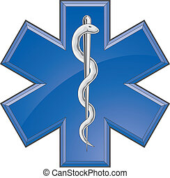 Rettungspersonal, medizinisches Logo