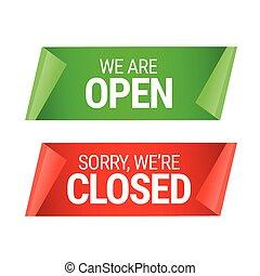 rgeöffnete, geschlossene, zeichen.
