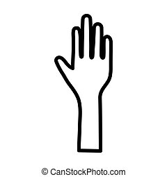rgeöffnete, ikone, hand, halten gebärde, angehoben, menschliche