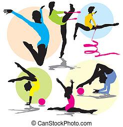 Rhythmische Gymnastik-Silhouette