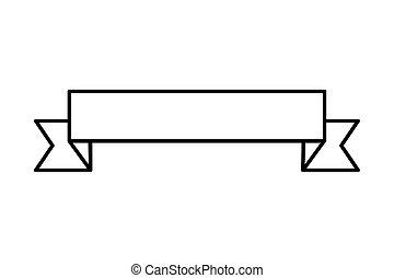 Ribbon Banner Symbol.