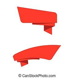 Ribbon Banner Vektorgrafik