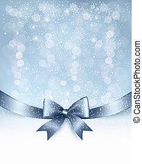 ribbon., geschenk verbeugung, vektor, glänzend, hintergrund, feiertag, weihnachten