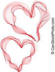 Ribbon-Herzen