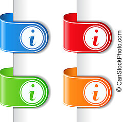 Ribbons mit Informationssymbol
