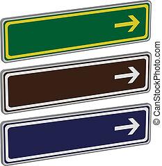 Richtungsschilder
