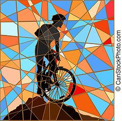 Ridge-Fahrer Mosaik.