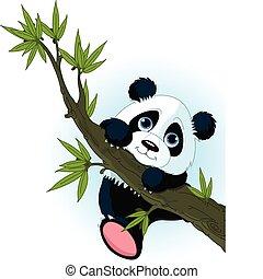 Riesen-Panda-Kletterbaum.
